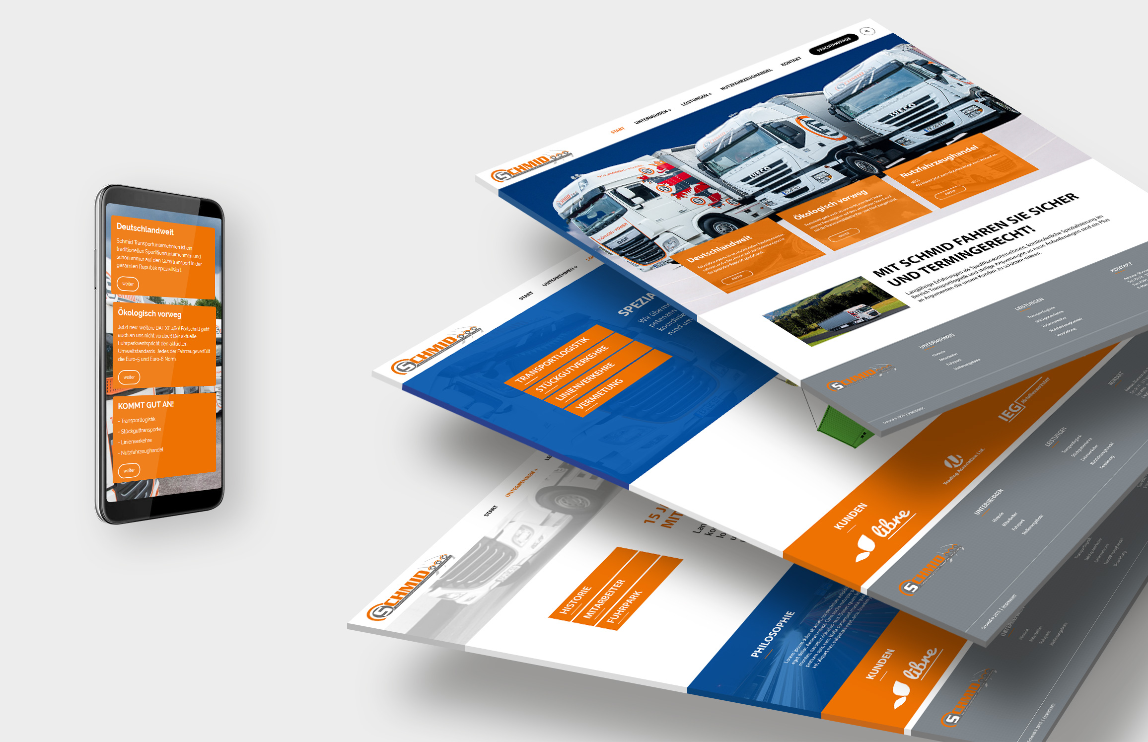 Responsive Webdesign - Schmid Transport & Logistik